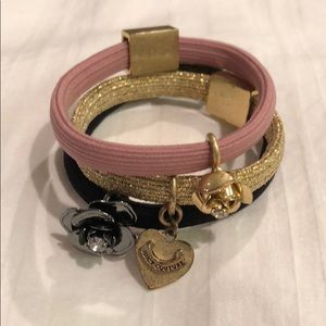 Juicy couture stretchy bracelets
